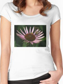 It's Getting Crowded on This Flower Women's Fitted Scoop T-Shirt