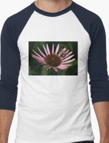 It's Getting Crowded on This Flower Men's Baseball ¾ T-Shirt