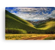 Light In The Mountain Valley Canvas Print