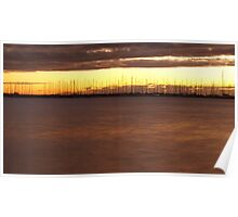 Sunset Marina Poster