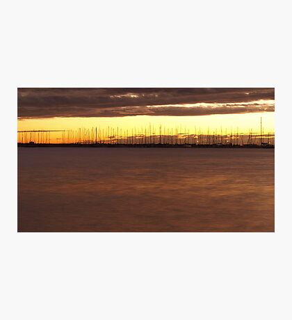 Sunset Marina Photographic Print