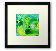 Green Abstract Art - Life Pools - By Sharon Cummings Framed Print