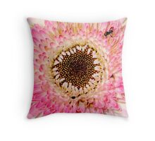 Pink Flower With Guest Throw Pillow