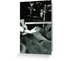 Jazz club couple, Manchester Greeting Card