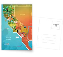 California Map Postcards