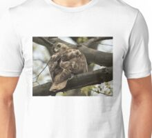 Curious Red Tail Hawk in the Spring Forest Unisex T-Shirt