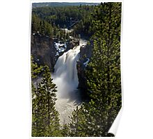 Upper Falls - Yellowstone River Poster