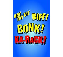 Cartoon RAT TAT TAT, BIFF! BONK! KA-RACK! by Chillee Wilson Photographic Print