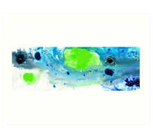 Green Blue Art - Making Waves - By Sharon Cummings Art Print