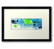 Green Blue Art - Making Waves - By Sharon Cummings Framed Print