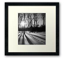 Shadowy Footprints Framed Print