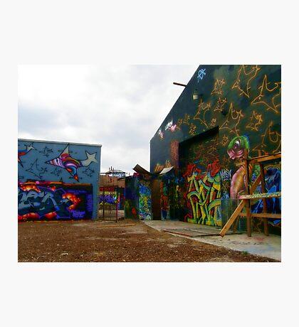 Graffiti Garage Photographic Print