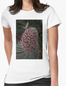 Millions of Tiny Flowers Plus a Butterfly Womens Fitted T-Shirt