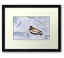 Snake Lake Duck Sketch Framed Print