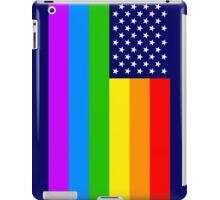 Gay USA Rainbow Flag - American LGBT Stars and Stripes iPad Case/Skin