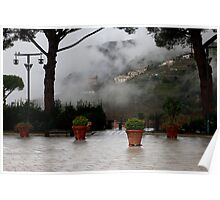 morning mist lifting, Ravello, Amalfi Coast, Campania, Italy Poster