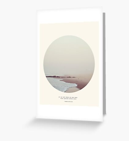 Maps - Circle Print Greeting Card