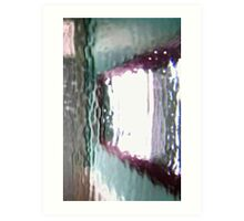 hung mirror through glass Art Print