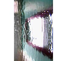 hung mirror through glass Photographic Print