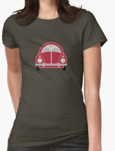 Red Car Womens Fitted T-Shirt