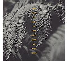 Bury Us Photographic Print
