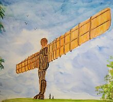The angel of the North by GEORGE SANDERSON