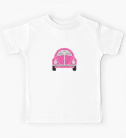 Pink Car Kids Tee