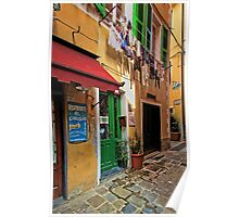 Clothes Drying and Pasta Cooking - Monterosso, Italy Poster