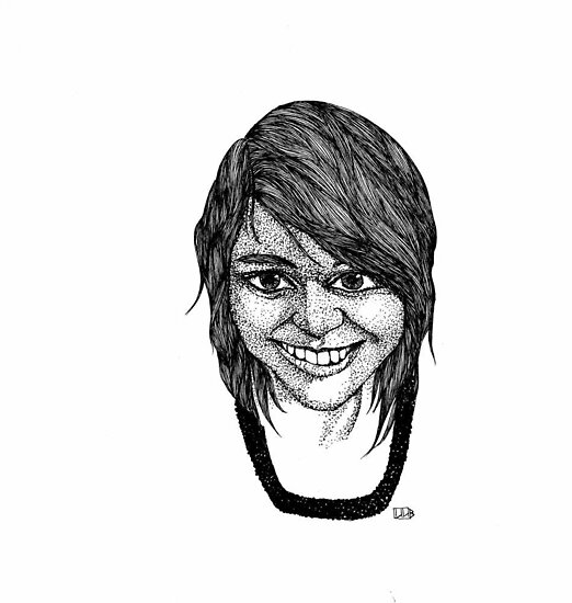 RedBubble Portrait of Christianna by Lenora Brown