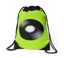 Vinyl Record by Chillee Wilson Drawstring Bag