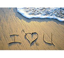 I 'heart' U! Photographic Print