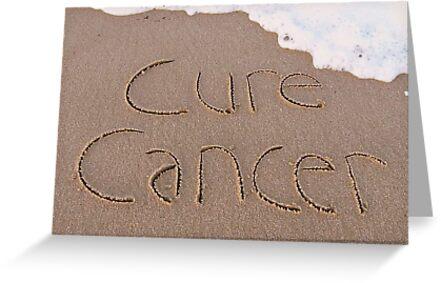 "Cure Cancer card by Lenora ""Slinky"" Regan"