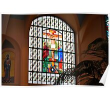 Crucifixion in Stained Glass... Poster