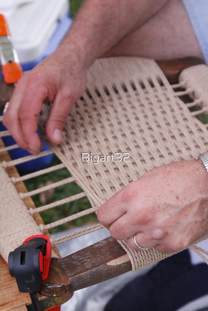 Replacing fiber rush seat  by Bigart32