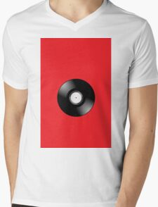 Vinyl Record by Chillee Wilson Mens V-Neck T-Shirt