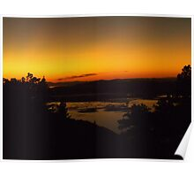Sunset from Willard Basin Poster