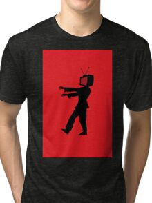 Zombie TV Guy by Chillee Wilson Tri-blend T-Shirt