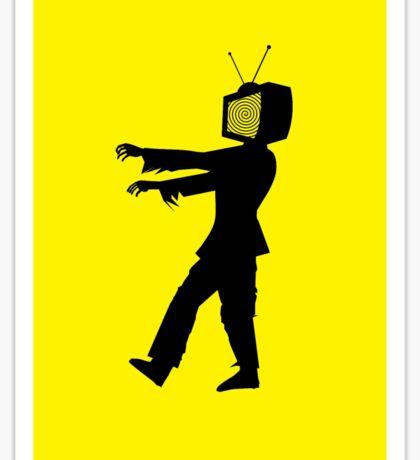 Zombie TV Guy by Chillee Wilson Sticker
