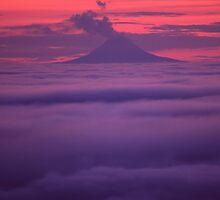 Mt. Augustine Volcano, Homer Alaska by Wayne Hughes