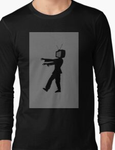 Zombie TV Guy by Chillee Wilson Long Sleeve T-Shirt