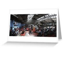Motorbike Garage Greeting Card