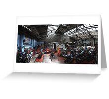 Motorbike Garage Greeting Card