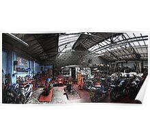 Motorbike Garage Poster