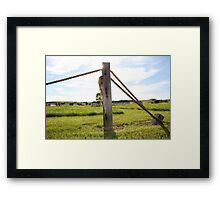 Post and Rope Framed Print
