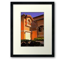Entry to Mediterranean style residence in South Florida Framed Print