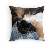 Newborns Nursing Throw Pillow