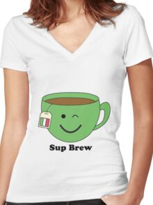 Sup Brew Women's Fitted V-Neck T-Shirt