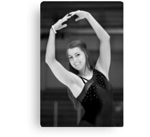 The figure skater pose. Canvas Print