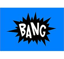 Cartoon Bang by Chillee Wilson Photographic Print