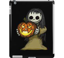 Creepy Girl with Pumpkin iPad Case/Skin